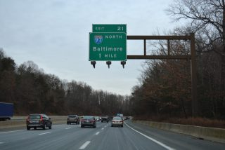 US 50-301/I-595 east at I-97 - Parole, MD