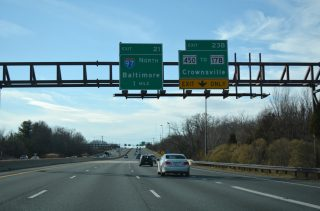 US 50-301/I-595 west at I-97 - Parole, MD