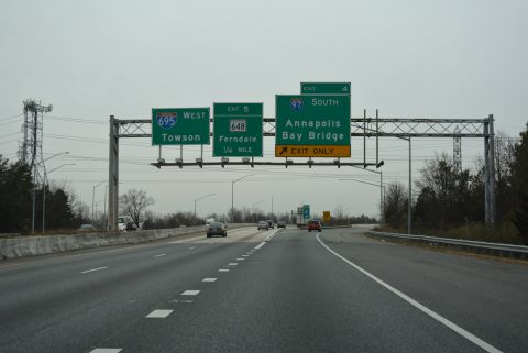 I-695 west at I-97 - Brooklyn Park, MD