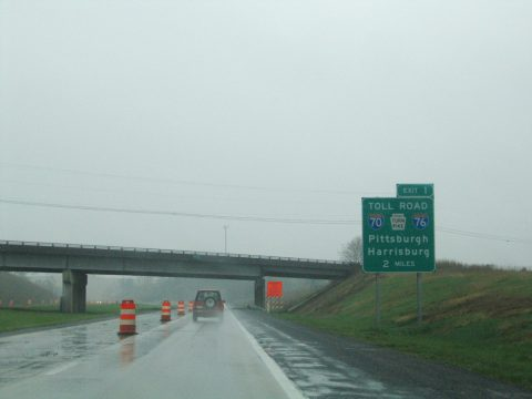 I-99/US 220 south at US 220 Business - Bedford Twp, PA