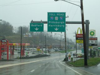 US 220 Business south at I-70/76 - Bedford Twp, PA