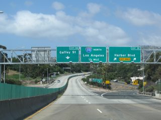 SR 47 west at I-110 - Los Angeles, CA