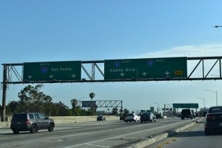 SR 110 south at I-10/110 - Los Angeles, CA