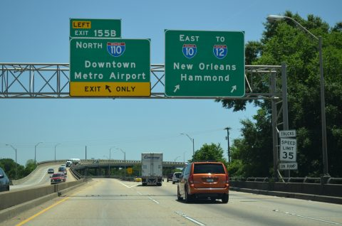 I-10 east at I-110 - Baton Rouge, LA