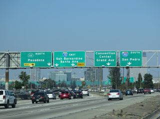 I-10 east at I-110/SR 110 - Los Angeles, CA