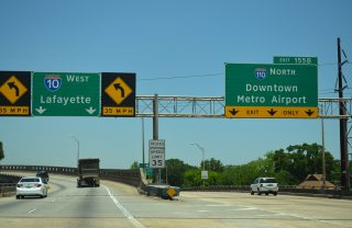 I-10 west at I-110 - Baton Rouge, LA