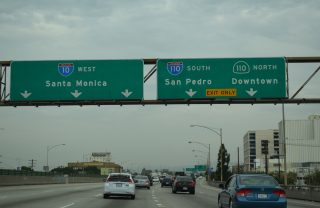 I-10 west at I-110/SR 110 - Los Angeles, CA