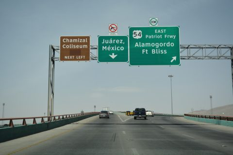 IH 10 west at IH 110/US 54 - El Paso, TX