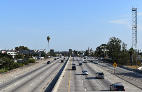 I-110 at I-10 - Downtown, Los Angeles, CA