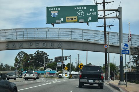 Gaffey St north at I-110 - San Pedro, CA