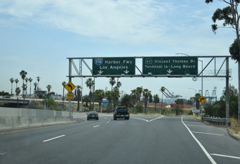 I-110 north at SR 47 - San Pedro, CA