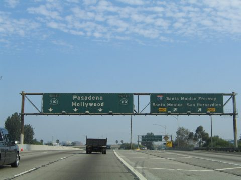 I-110 north at I-10/SR 110 - 2005