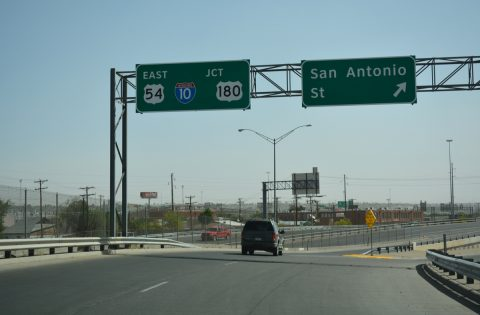IH 110 north at San Antonio St - El Paso, TX