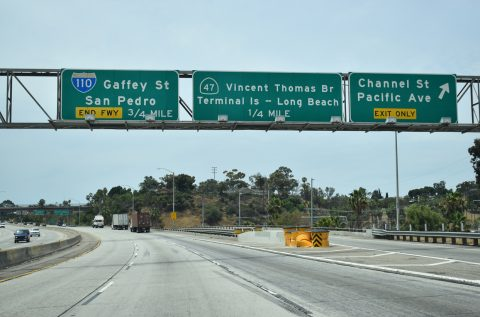 I-110 south at SR 47 - San Pedro, CA