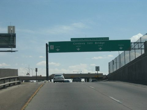IH 110 south at Cordova Int'l Bridge - El Paso, TX