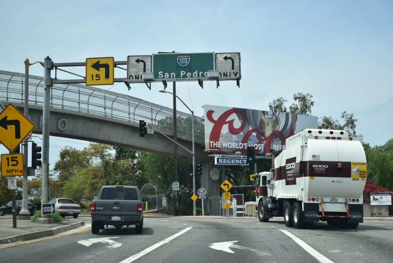 I-110 south at Gaffey St - San Pedro, CA