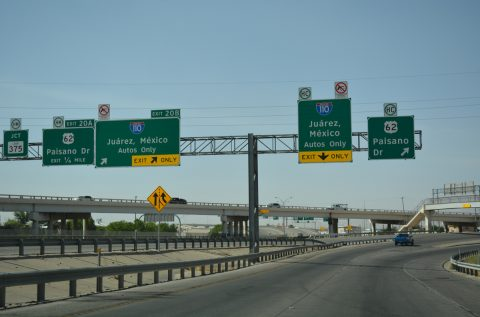 IH 110 south at US 62 - El Paso, TX