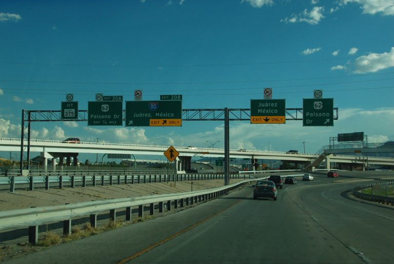 IH-110 south at US 62 - El Paso, TX