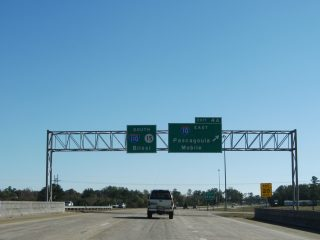 MS 15 south at I-10/110 - D'Iberville