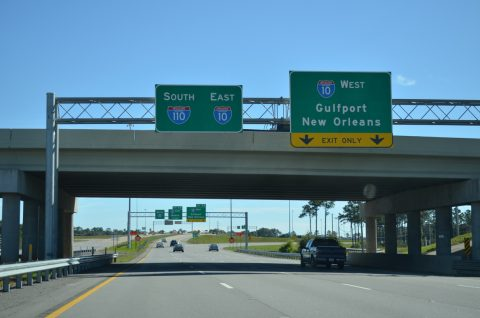 MS 67 south at I-10/110 - D'Iberville