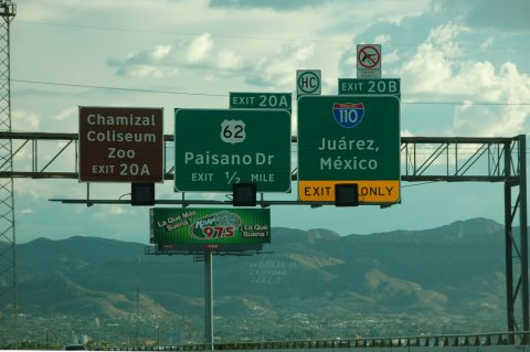 US 54 west at IH 110/US 62 - El Paso, TX