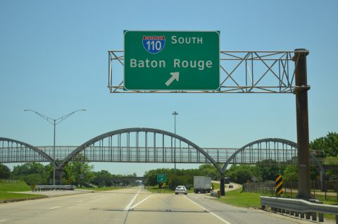 US 61 south at I-110 - Baton Rouge, LA