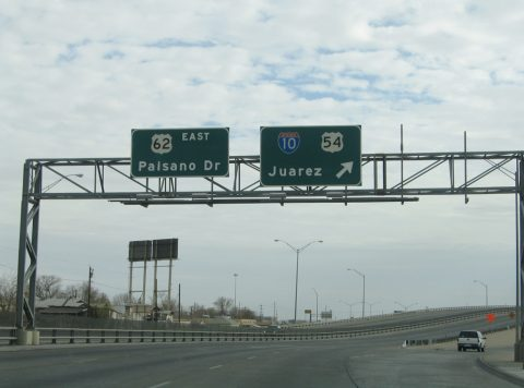 US 62 east at IH 110 - El Paso, TX