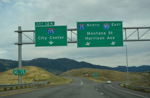 I-15/90 east at I-115 - Butte, MT