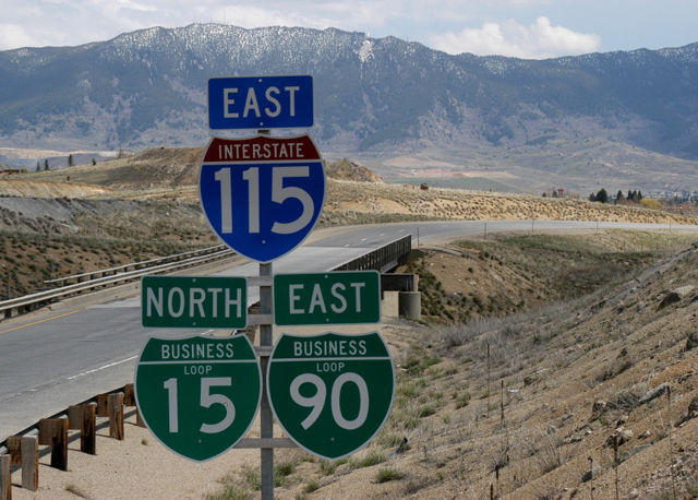 I-115 east at I-15/90 - Butte, MT