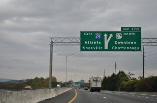 I-24 east at I-124/US 27 - Chattanooga, TN
