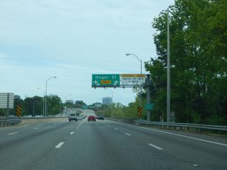 I-126 east at US 21/176/321 - Columbia, SC