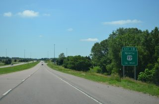 I-129/US 20-75 west at US 77 - South Sioux City, NE