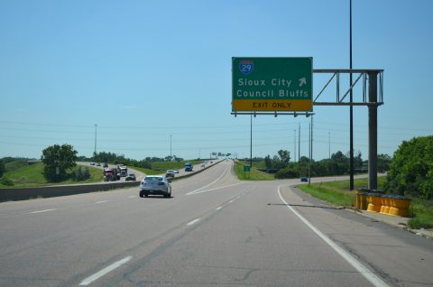 US 20/75 west at I-29/129 - Sioux City, IA