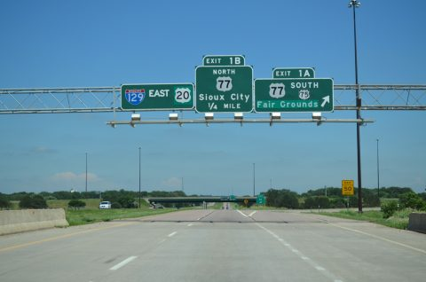 US 20 east at I-129/US 75-77 - South Sioux City, NE