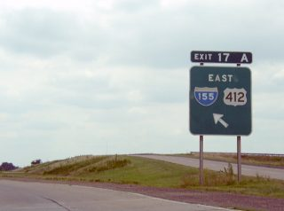 I-55/US 61-412 south at I-155 - 2003