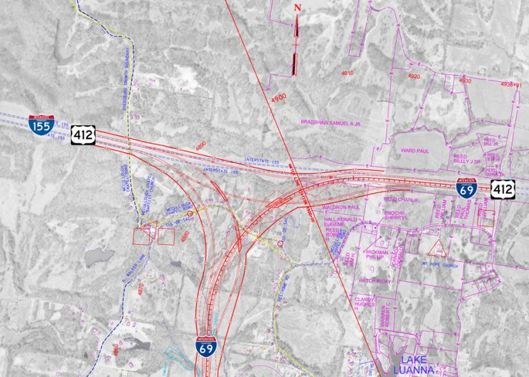 I-69/155 Interchange Schematic