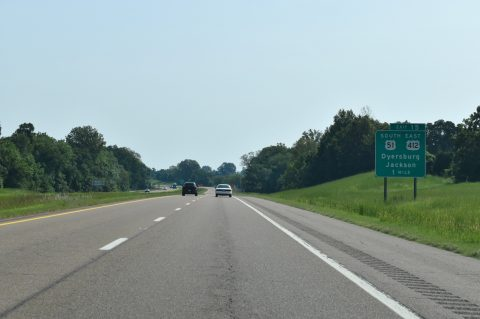 I-155/US 412 east at US 51 - Dyersburg, TN