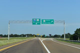US 51/412 north at I-155 - Dyersburg, TN