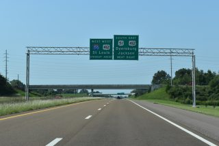 US 51 south at I-155/US 412 - Dyersburg, TN