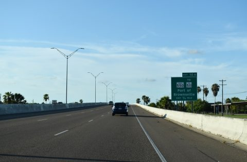 IH 69E north at IH 169/SH 550 - Brownsville, TX