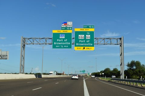 IH 69E south at IH 169/SH 550 - Brownsville, TX