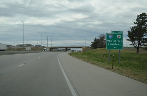 I-80/US 77 west at I-180/US 34 - Lincoln, NE