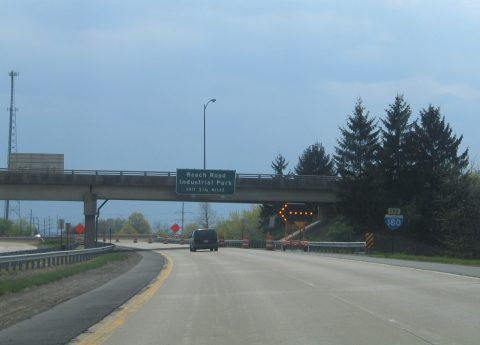 I-180 west at US 15/220 - Williamsport, PA