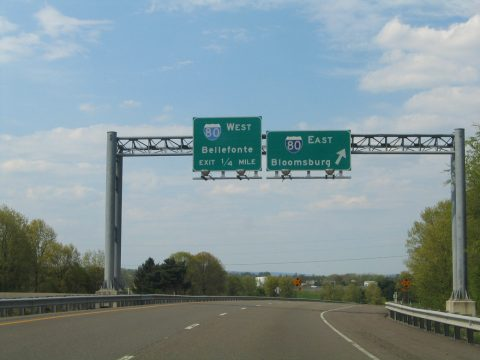 PA 147 north at I-180/80 - Turbot Twp
