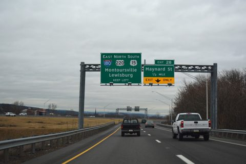 US 15 south at I-180 - Williamsport, PA
