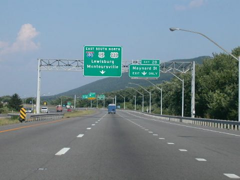 US 220 north at I-180/US 15 - Williamsport, PA