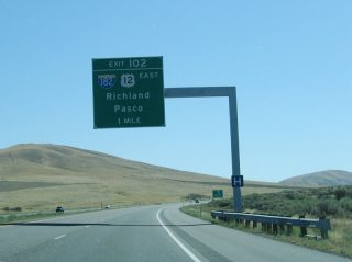 I-82/US 12 east at I-182 - Richland, WA