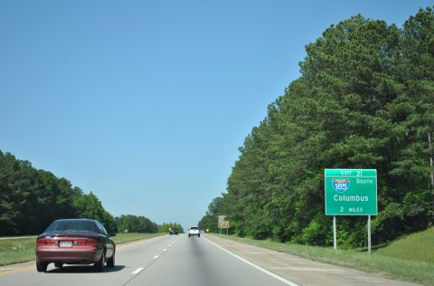 I-85 north at I-185 - LaGrange, GA