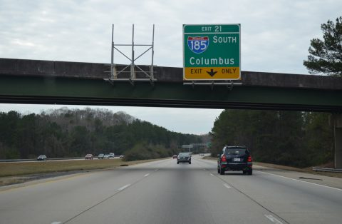 I-85 south at I-185 - LaGrange, GA