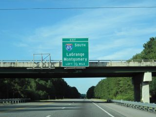 I-185 north at I-85 - LaGrange, GA